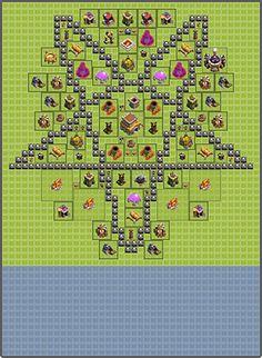 Clash of Clans base: Pentagram