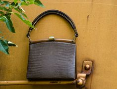 Vintage Brown Purse Mad Men Mid Century by NostalgicWarehouse, $52.00