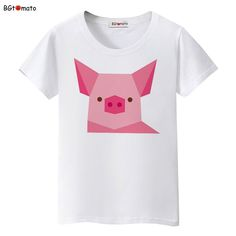 dcdb3b0c06c BGtomato lovely Digital pig t shirt women fashion pink pig cute shirt Good  quality brand comfortable