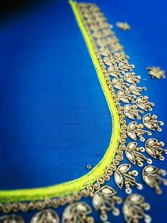 Hand Work Blouse Design, Aari Work Blouse, Simple Blouse Designs, Silk Saree Blouse Designs, Choli Designs, Bridal Blouse Designs, Elements Of Art Color, Embroidery Blouses, Maggam Work Designs