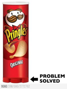Problem Solved - first world problems. Good Invention Ideas, Just For Laughs, Just For You, Pringles Can, First World Problems, Just Dream, Take My Money, Cool Inventions, Looks Cool