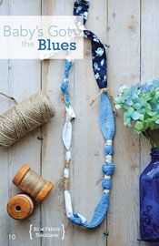@Jo-Ann Fabric and Craft Stores Spring 2014 Trends and Ideas (easy blue fabric necklace)