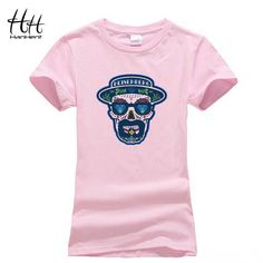 Breaking Bad T shirt Femme Cotton Women Tee shirts Girls Walter White Skull T-shirts For Woman Fashion