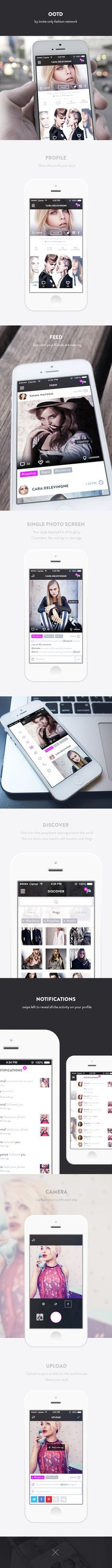 Outfit of the Day Fashion App by Ben Dunn, via Behance