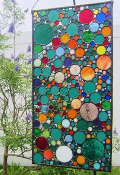 Handmade Stained Glass Art  Abstract Circle by JBsGlassHouse, $425.00