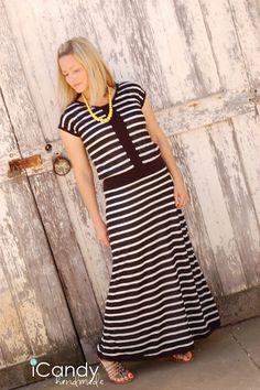Vintage Maxi Dress (dropped waist) Tutorial