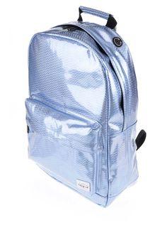 Světle modrý dámský holografický batoh Spiral Glitz