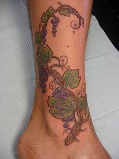 Grape Vine Tattoo