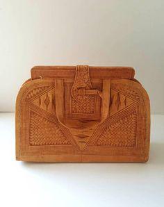 79a30db7980 Forties bag leather bag Vintage soft leather tan handbag Vintage Zacht,  Vintage Leer, Bruin