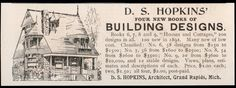 Ad for D.S. Hopkins, Architect - 1893