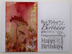 Mopping up the leftovers (Kim x) Birthday Cards, Happy Birthday, Easy Peasy, Are You Happy, Diy Crafts, Art Cards, Wildflowers, Stamps, Blog