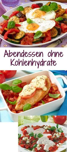 for the home Rezeptideen fr tolle Abendessen - ganz ohne Kohlenhydrate *** Recipe ideas for every day dinner Dinner No Carbs, Law Carb, Low Carb Recipes, Healthy Recipes, Healthy Meals, Free Recipes, Clean Eating, Healthy Eating, German Recipes