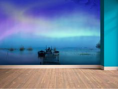 Peaceful wall mural by Wallpaper Ink. We love it!