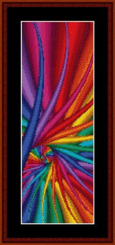 Cross Stitch Collectibles - Fractal 114 Bookmark