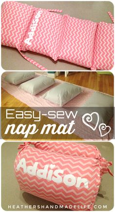 Sew a cozy nap mat for sleepovers or movie nights! *** BONUS: It folds into a be. Sew a cozy nap mat for sleepovers or movie nights! *** BONUS: It folds into a bean bag chair when it's not spread out. Baby Nap Mats, Kids Nap Mats, Pillow Lounger, Pillow Mattress, Diy Pillow Chair, Pillow Beds, Sewing Hacks, Sewing Crafts, Sewing Tips