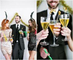 Silvester Hochzeit Inspiration – Goldene und Silber Hochzeitsdeko im Winter