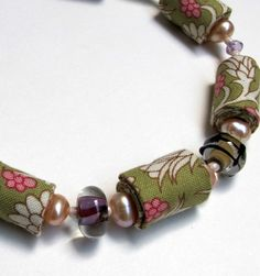 Floral lime and pink romantic fiber necklace by Gilgulim on Etsy, $58.00