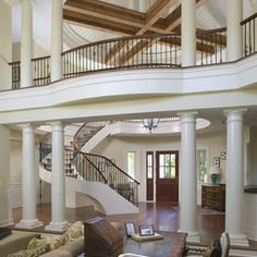 staircase, catwalk and columns - love 'em all!