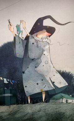 """Illustration """"Le roi maladroit"""". Illustratrice: Mayalen Goust"""