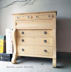 SOLD: Empire Dresser in Soft Yellow by Martha Leone Design