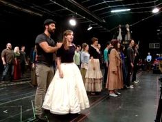 Rehearsals for One Day More ~ Ramin Karimloo and Samantha Hill