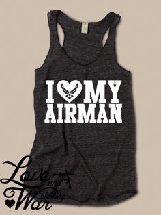 I love my Airman racer back tank top