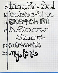 Letter Love Lesson 4 (c) Doodle Lettering, Creative Lettering, Lettering Styles, Brush Lettering, Lettering Ideas, Zentangle, Tittle Ideas, Abc Letra, Inspiration Artistique