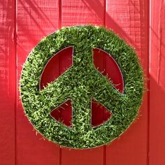 grass peace sign.  This one is made from astro turf I think it could also be made with moss.