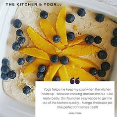 New blog post! I really struggle in the kitchen, it stresses me out and I often feel overwhelmed and anxious. So I'm sharing how I overcome kitchen stress (yoga of course + some other points!) Plus share my take on an easy, delicious Mango shortcake pie recipe by the lovely Amy from @eatprayworkout, who I was lucky to meet recently. These kind of recipes save me from a kitchen melt down!  Link in bio 💙 Subscribe for Joga news direct to your inbox! Stress Yoga, Points Plus, Feeling Overwhelmed, News Blog, Anxious, Pie Recipes, Amy, Mango, Meet