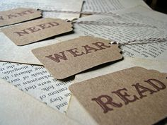 Want.Need.Wear.Read. - Keeping the giftgiving simple!