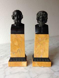 Paar Bronzebüsten aus der Fürstl.Sammlung Thurn & Taxis, ca.1885  - Gladenbeck