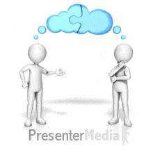 ID# 13979 - Two Figures Sharing Thoughts - PowerPoint Animation