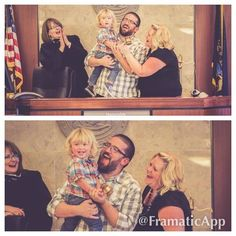 Our son Hunter pounding the gavel that made him an official Hale, after spending 411 days in foster care.  #HaleYes #iamadoption2014 @adoption