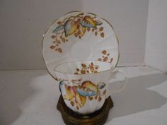 VTG ROYAL STUART BONE CHINA ENGLAND SPENCER STEVENSON TEA CUP & SAUCER