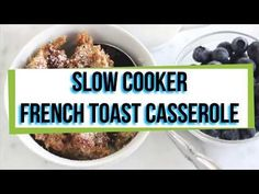 Do a few minutes of prep work and have breakfast cooking for you overnight. This slow cooker french toast casserole is perfect for mornings you don't want to turn on your oven