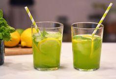 Moringa, Mint, Lemon & Lime Infused Water - our healthy lemonade! | aduna.com