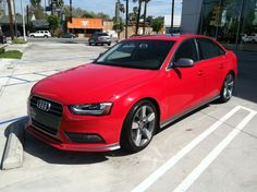 Is it too early for summer? Because this Audi is Red Hot. Can someone tell me the package on this, because I'm at a loss for words for how good this A4 looks. www.KeyesAudi.com