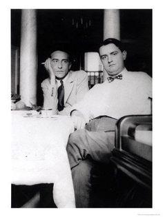 Georges Auric and Cocteau at Villefranche Sur Mer, 1924