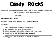 Science: Study the Three Types of Rock through this tasty simulation via this middle school science and math teacher. Middle School Classroom, Middle School Science, Elementary Science, Science Classroom, Teaching Science, Science Education, Teaching Ideas, Future Classroom, Classroom Ideas