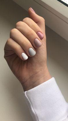 маникюр Chic Nails, Stylish Nails, Trendy Nails, Nagellack Design, Nagellack Trends, Nagel Hacks, Fall Acrylic Nails, Neutral Nails, Minimalist Nails