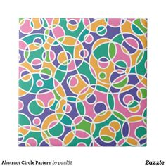 Abstract Circle Pattern Tile