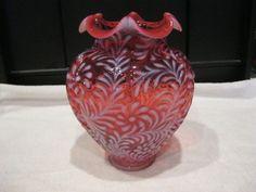cranberry glass vase