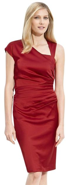 Suzi Chin For Maggy Boutique Asymmetric Stretch Satin Sheath Dress. Free shipping and guaranteed authenticity on Suzi Chin For Maggy Boutique Asymmetric Stretch Satin Sheath DressSuzi Chin for Maggy Boutique Asymmetric Stretch Sa...