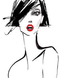 Fashion Illustration - concept for Grand Image poster