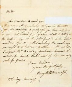 Mary Wollstonecraft autograph letter signed to Catharine Macaulay, 30 December 1790, The New York Public Library Digital Collections. 1790.