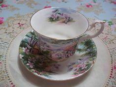 "Royal Albert Bone China Tea Cup & Saucer Country Scenes Series ""Dingle Dell"" #RoyalAlbert"