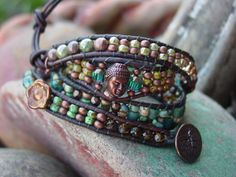 Chan Luu Style Wrap Bracelet with Copper Accents by YouMeUsDesigns