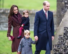 In a break from tradition, the Duke and Duchess of Cambridge (pictured with Prince George and Princess Charlotte), are spending the 2016 holidays with Kate's parents, Michael and Carol Middleton, at their home in the village of Bucklebury, Berkshire.