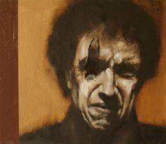 Pasquale Nero Galante colori di terra, colori di guerra!, olio su tela cm 35x40, 2014 RITRATTO DI MIMMO CAVALLO