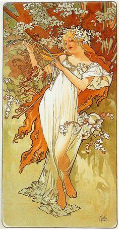 Spring, by Alphonse Mucha